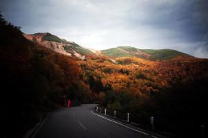 紅葉に染まる乗鞍岳