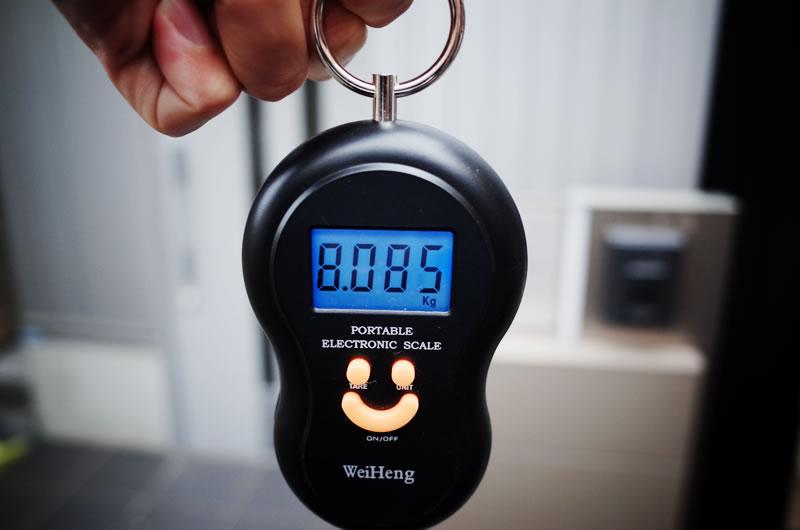 ターマックスポーツの重さは約8.1kg!