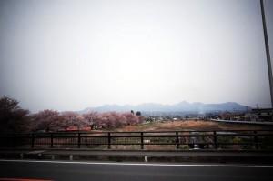 遠くに見えるのが榛名山