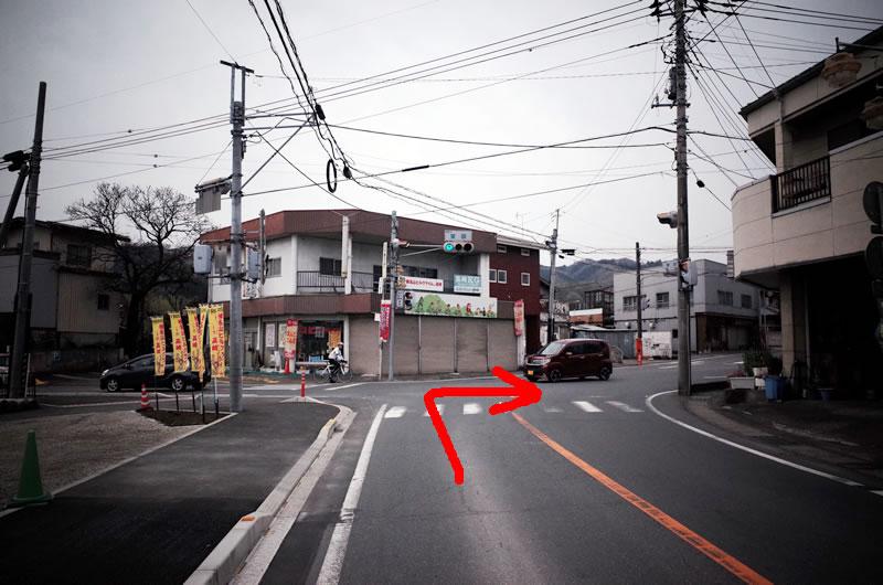 室田の交差点を右折してハルヒル試走スタート!