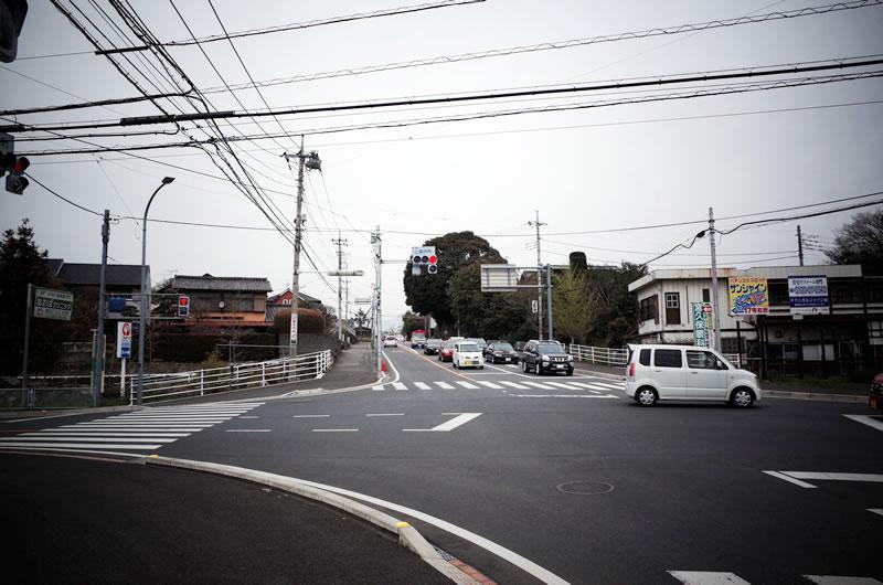 上細井町交差点がスタート地点