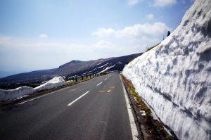 雪の壁に到着ぅう!