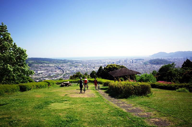 梶原山公園からは静岡を一望できる!