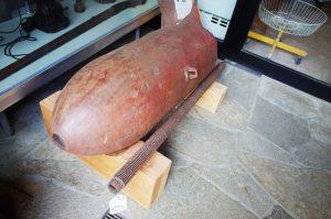 なぜかB29の不発弾が展示中。こんなところにも空襲が!?