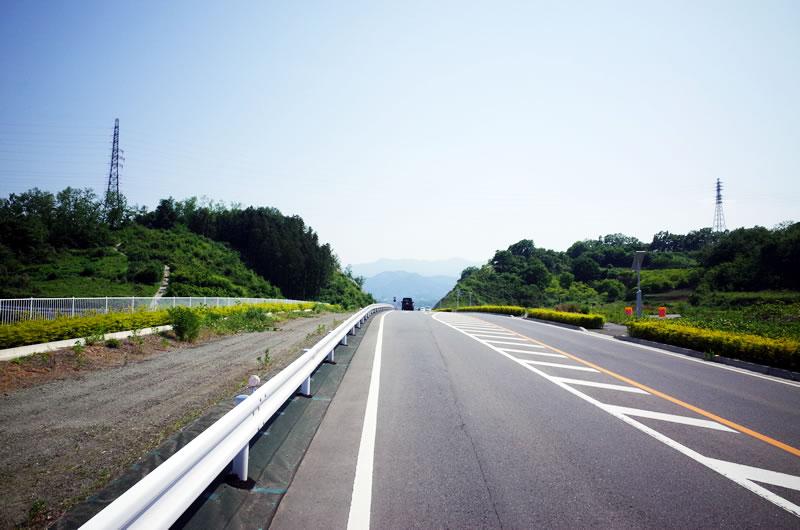富岡に向かう道は超きれい!