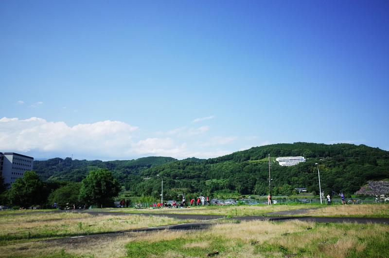 大井町クリテリウムの会場は山の上