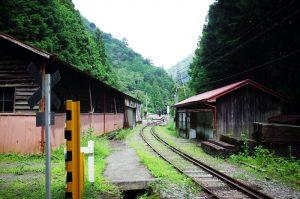 接岨峡温泉駅の入り口