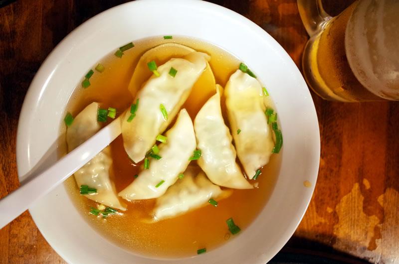 スープ餃子は絶品です