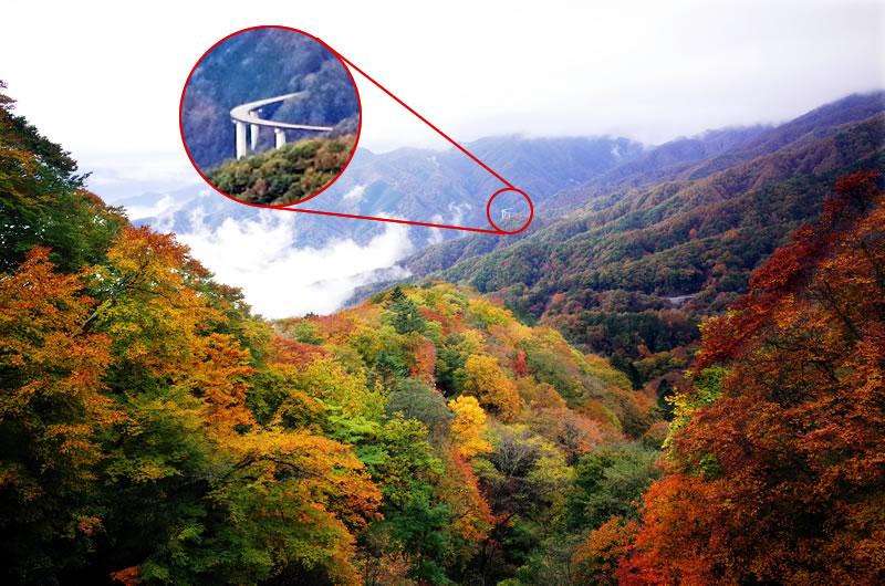 遠くのループ橋まで見える!!