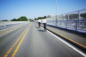 城ヶ島にわたる橋、自転車は通行無料
