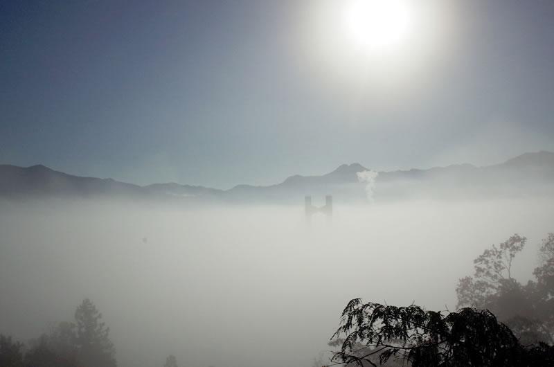 秩父市街が一面雲の中!