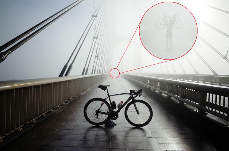 霧の奥に何かいる!?
