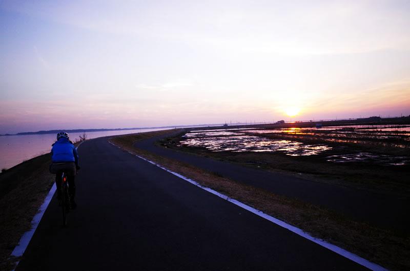 夕日の霞ヶ浦は美しい!