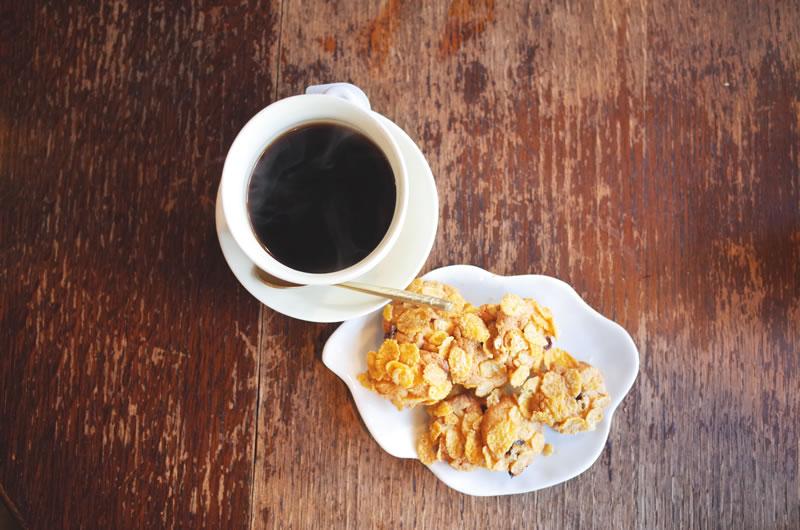 淹れ立てのコーヒーと手作りクッキーが絶品!