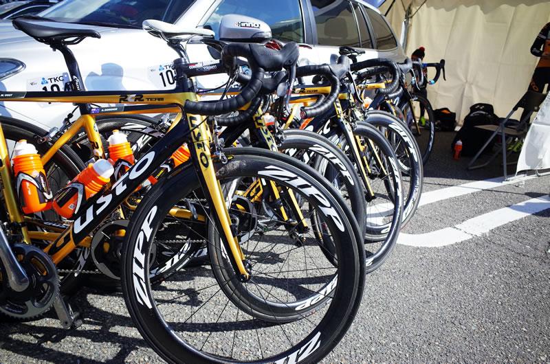 アタッキチームグストの自転車!