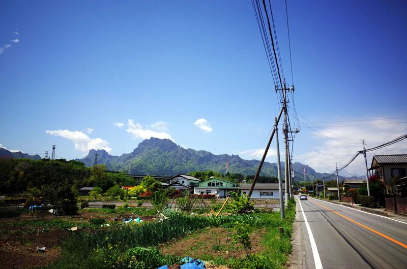 妙義山を望む田園風景がきれい!