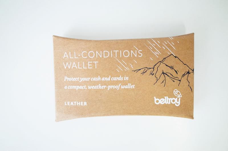 Bellroy All Conditions ウォレットは全天候型