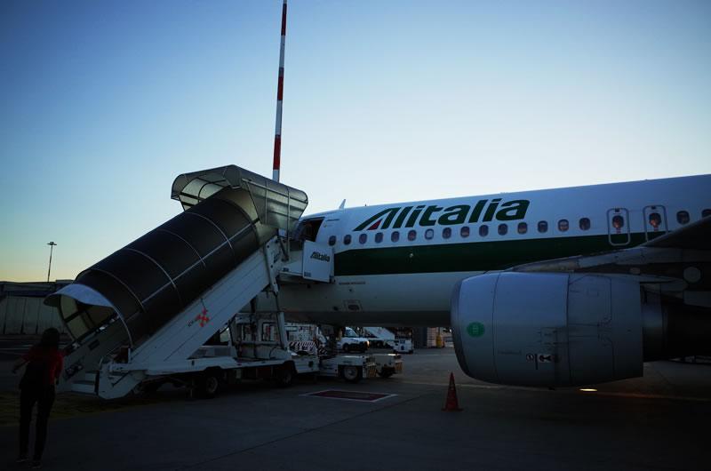 アリタリア航空、フライトを強制変更