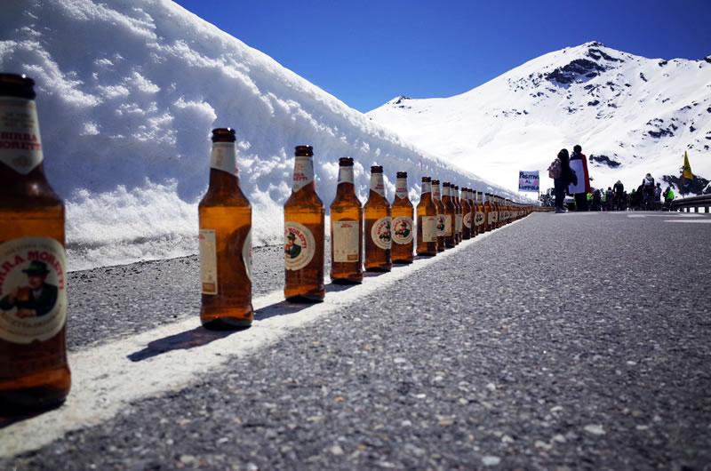 ビールが立ち並ぶベルギーコーナー