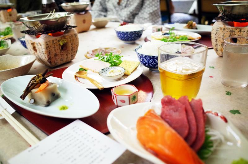 長濱旅館の料理は美味しいぞ!!