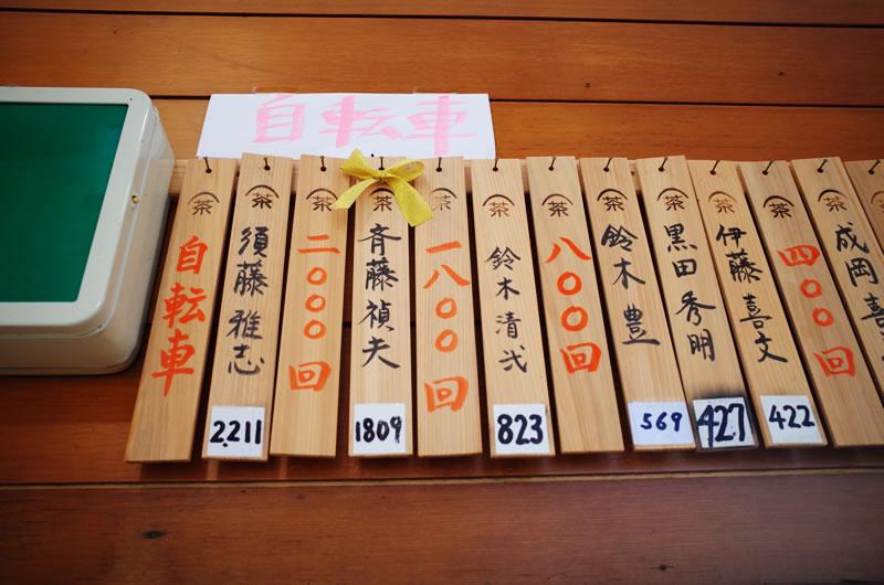 粟ヶ岳の登頂回数を競う猛者たち