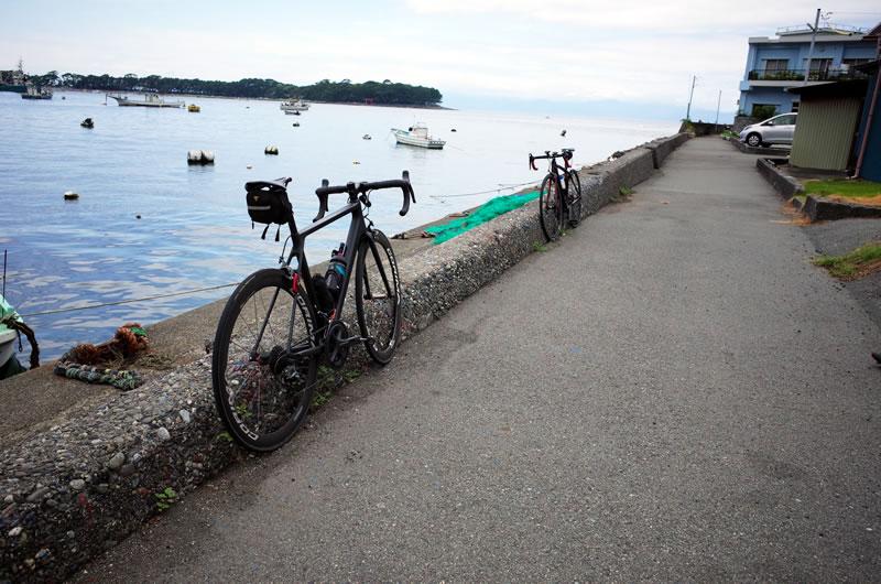戸田漁港で一休み
