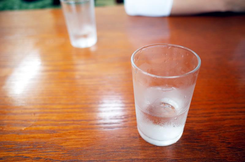 こばや食堂はお水もとても美味しいのです