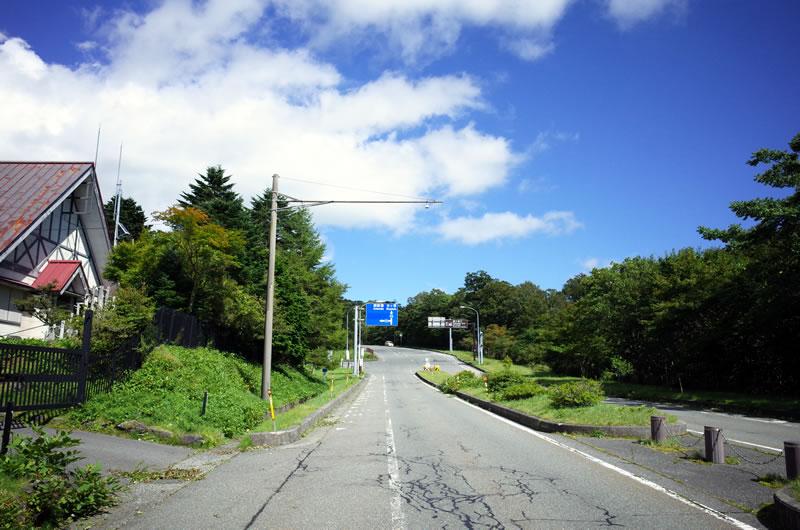 左折すると富士山スカイラインの入り口