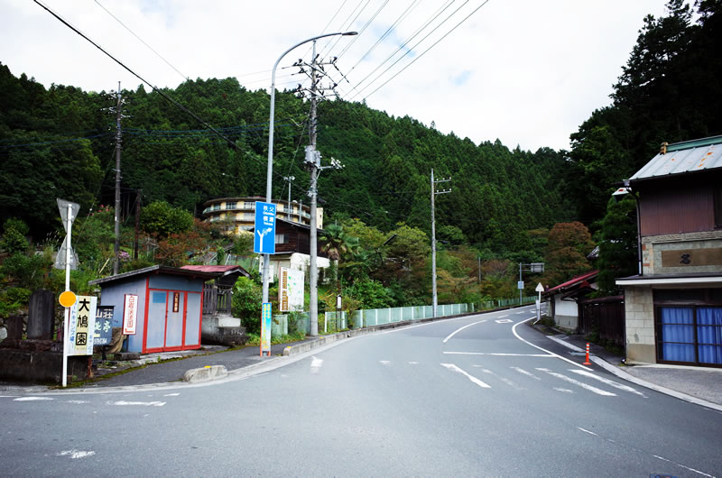 山伏峠の入り口