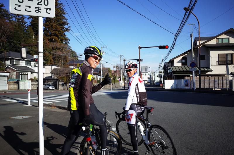 チーム右京の畑中選手とブリジストンの初山選手と遭遇!