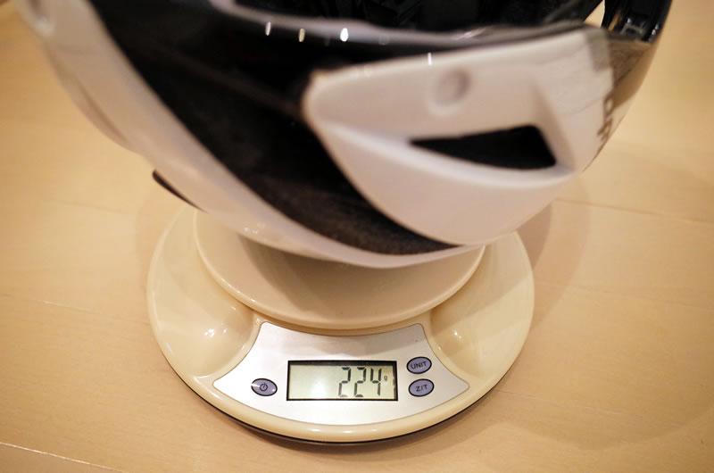 AERO R1の実重量を測ってみたら224g(Lサイズ)だった