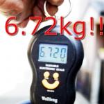 キャニオン + ロヴァールにしたら6.72kg!!