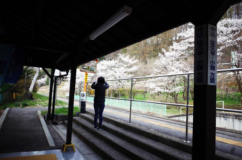 黒澤酒造の最寄り駅・八千穂駅がなかなか素敵
