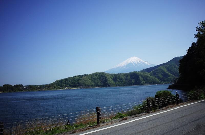 富士山の眺めを一望できる湖北ビューライン