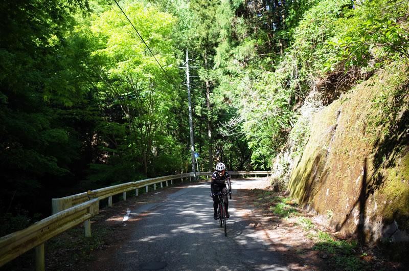 田口峠の入り口はかなりの斜度