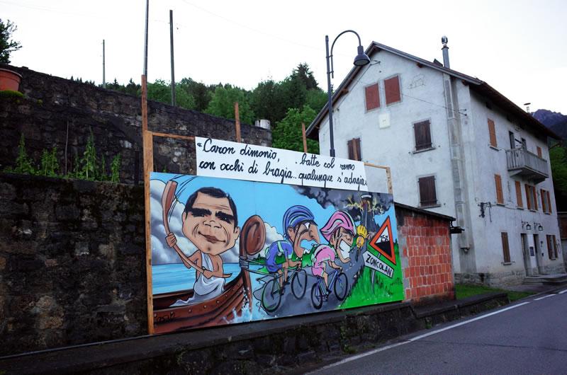 ゾンコラン入り口の壁画。