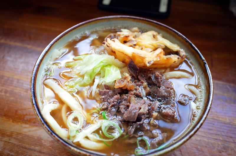 美也樹の肉天うどんも最高に美味い!