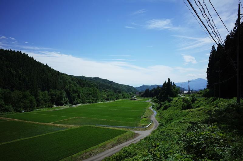 沼田方面へのダウンヒルはいい景色