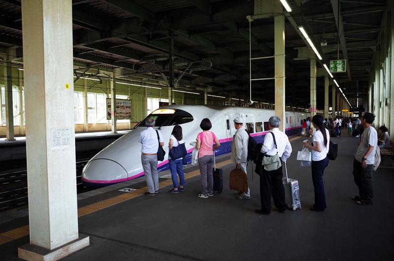 帰りは新幹線輪行で東京へ