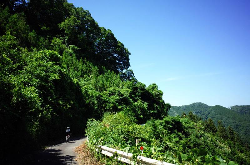 道は悪いが見晴らしは良い入山峠