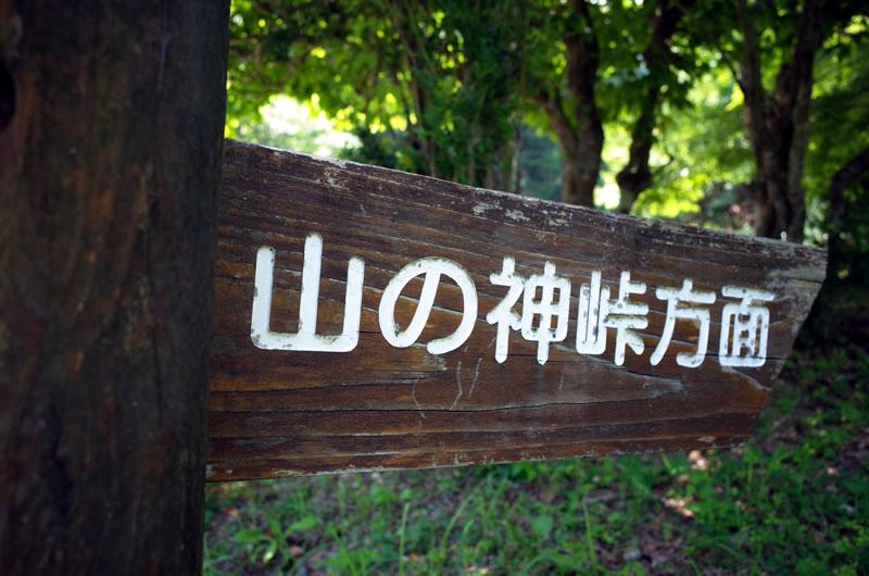 山の神峠に続く看板を発見!!