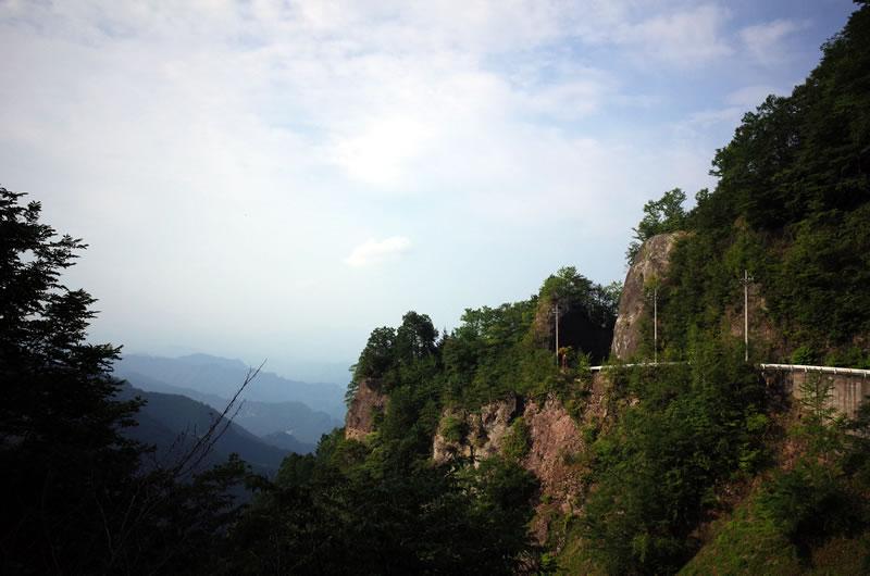 大血川線の頂上付近の眺めも素敵