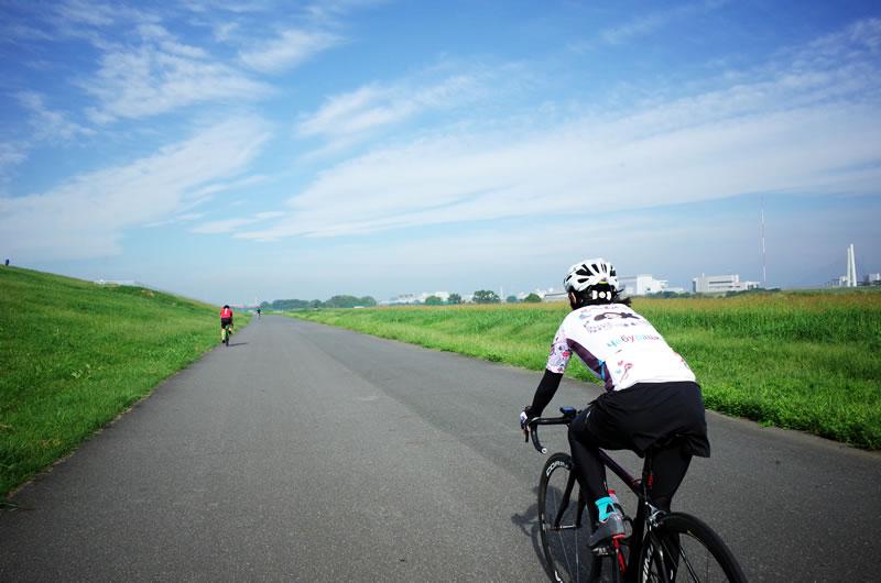 前日はヤビツ、そして今日は荒川サイクリングロードへ
