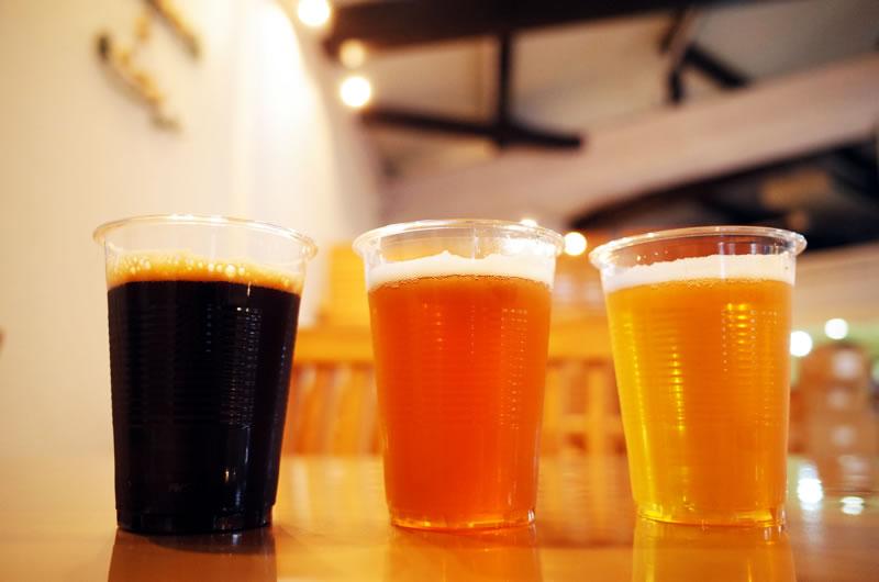 道の駅いずのへそで味わえる地ビール3種類