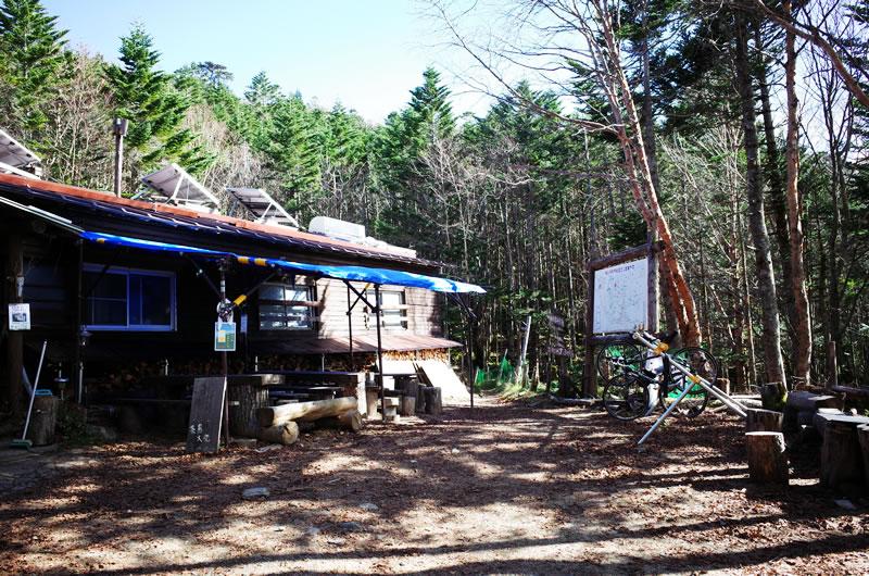 大弛峠 唯一の食事場所は頂上の山小屋