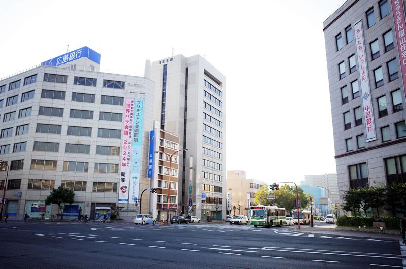 大都会・福山を出発進行!