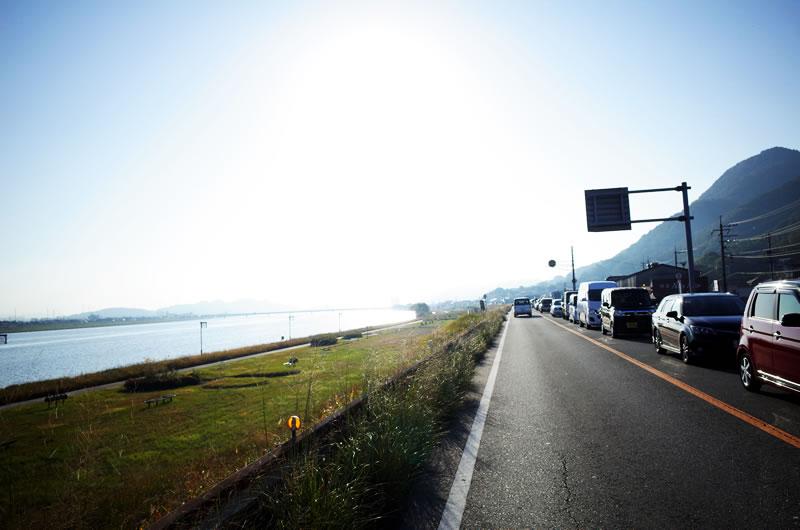 芦田川を越えると一気に交通量が減って走りやすくなる