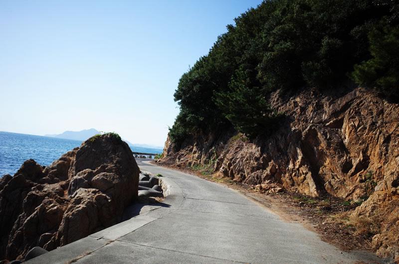 横島は海岸線をひたすら走るルート