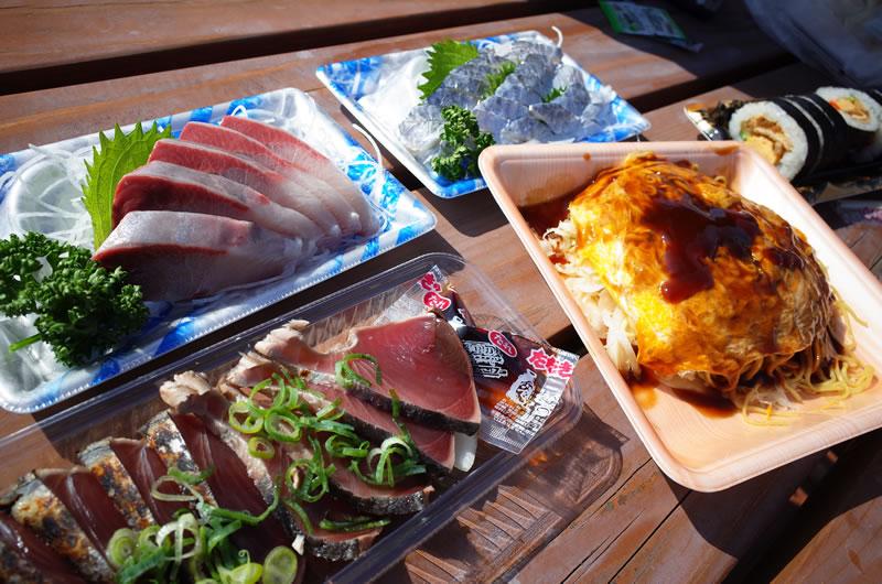 ゆめしま海道のスーパーマーケットで買ったお好み焼きは純な広島風だった