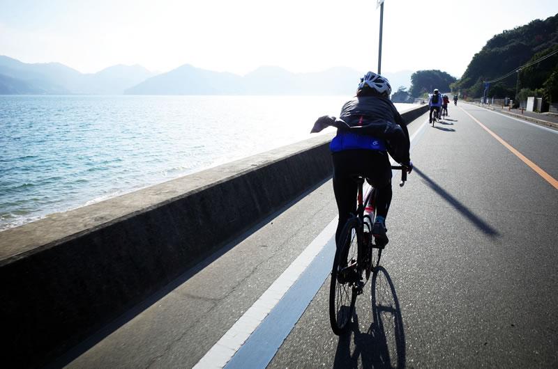因島・向島で多数のサイクリストとすれ違い